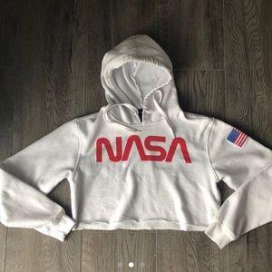 NASA Crop Hoodie